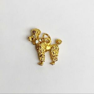 Gold Plated Poodle Charm